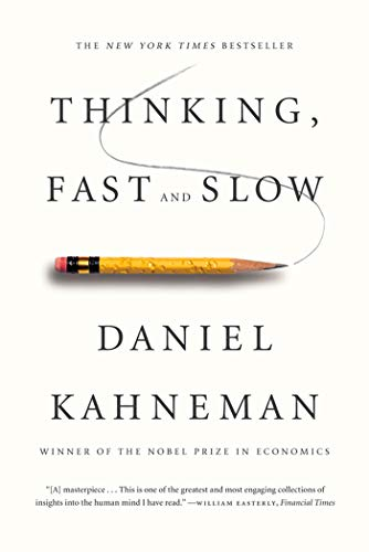 Thinking, Fast and Slow  - Book Cover Image